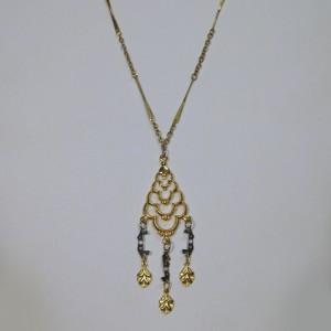 Pyramid Drop Necklace