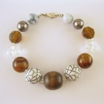 Wood and Marble Bead Bracelet