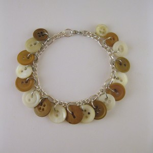 Brown and Tan Button Bracelet