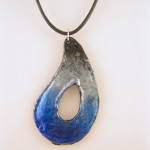 Blue Fade Teardrop Necklace