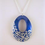 Swirled Blue Necklace